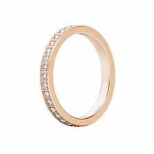 Обручальное кольцо из розового золота с бриллиантами Пространство любви
