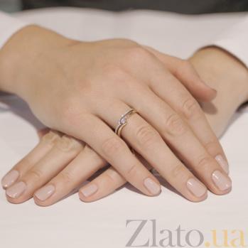 Золотое кольцо Волна с бриллиантами KBL--К1022/крас/брил