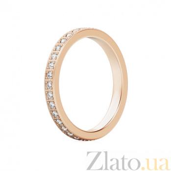 Обручальное кольцо из розового золота с бриллиантами Пространство любви 337