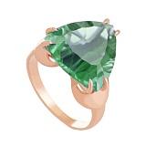 Золотое кольцо Статус с синтезированным аметистом