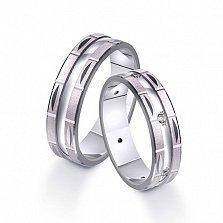 Золотое обручальное кольцо с фианитами Сияние