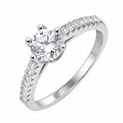 Серебряное кольцо с фианитами 000112669