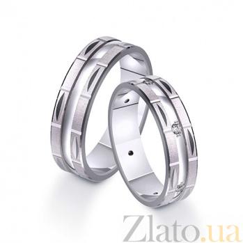 Золотое обручальное кольцо с фианитами Сияние TRF--412201