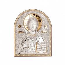 Икона Иисус Христос серебро с позолотой
