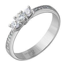 Кольцо из белого золота Богема с бриллиантами