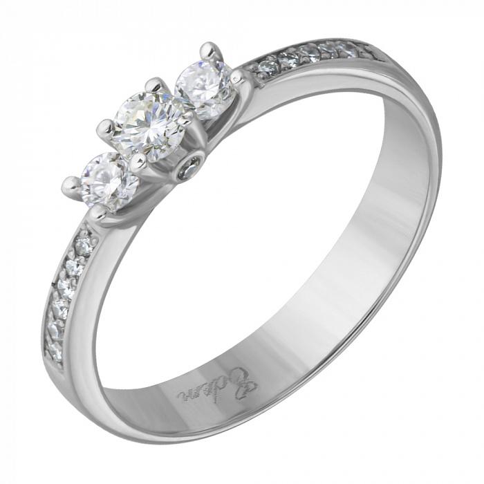Кольцо из белого золота Богема с бриллиантами EDM--КД7429/1