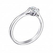Серебряное кольцо Лейла с кристалом Swarovski