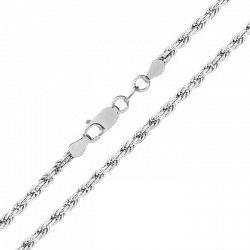 Серебряная цепь с родированием, 3 мм 000071838
