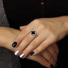Серебряное кольцо Алевтина с фианитами в стиле Ван Клиф