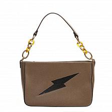 Клатч Italian Bags 8382_taupe Кожаный Таупе