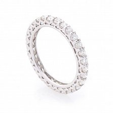 Кольцо из белого золота Полина с бриллиантами