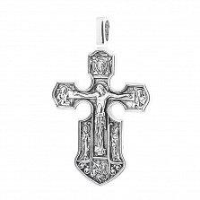Серебряный крест с позолотой и чернением Вознесение
