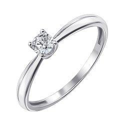 Кольцо из белого золота с бриллиантом 000139533