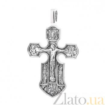 Серебряный крест с позолотой и чернением Вознесение ONX--13537