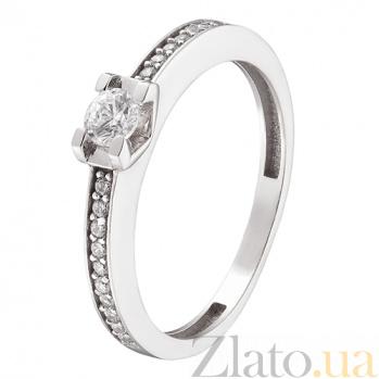 Кольцо в белом золоте Ирина с фианитами 000023841