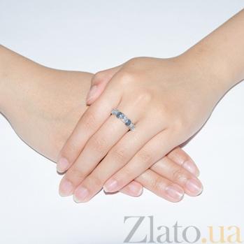 Серебряное кольцо с топазами Наяда TNG--361537С