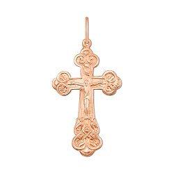 Крестик в красном золоте 000106161