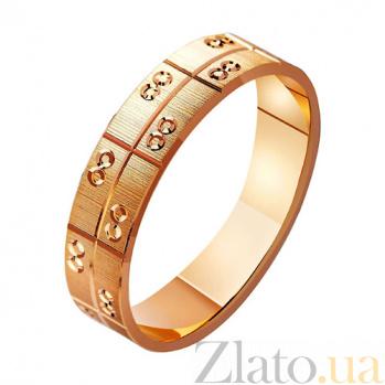Золотое обручальное кольцо Леди-грация TRF--411068