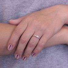 Золотое кольцо Адриатика с асимметрично расположенными фианитами