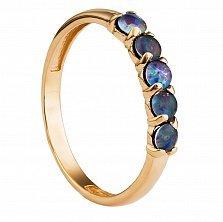 Золотое кольцо Квинтет с опалами