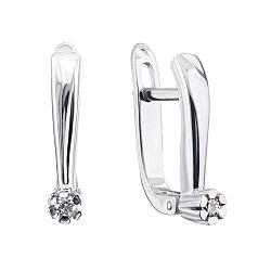 Серебряные серьги с бриллиантами 000131660