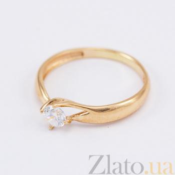 Кольцо из красного золота с фианитом Нина VLN--212-1707