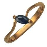Золотое кольцо Волшебство с сапфиром