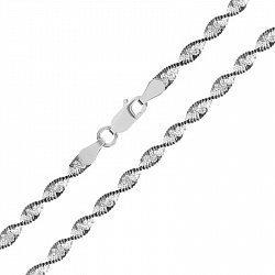 Серебряная цепь Фиорентина с чернением