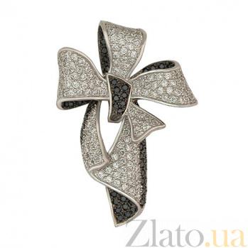Кулон из белого золота с фианитами Цветок VLT--ТТ389