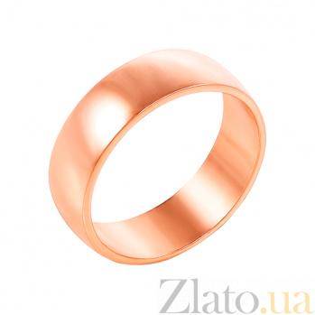 Золотое обручальное кольцо Элегия в красном цвете 000000345