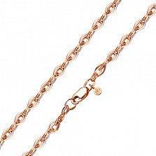 Золотой браслет Эйлит в объемном плетении нонна, 4мм