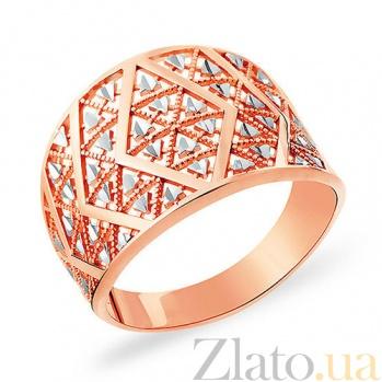 Кольцо из красного золота Стильный орнамент SUF--153467