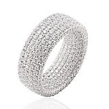 Обручальное кольцо в белом золоте Триумф с белыми бриллиантами