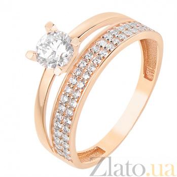 Кольцо из красного золота Валенсия SVA--1101613101/Фианит/Цирконий