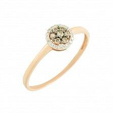 Золотое кольцо Ивори с бриллиантами