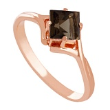 Золотое кольцо с раухтопазом Галата