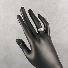Обручальное кольцо Лаванда в комбинированном золоте с фианитами