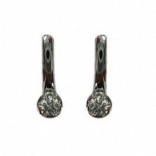 Золотые серьги с кристаллами Swarovski Марисса