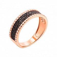 Золотое кольцо Эльмина с фианитами