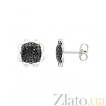 Серебряные серьги с фианитами Кэролл 3С543-0037