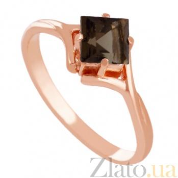 Золотое кольцо с раухтопазом Галата VLN--112-1203-2