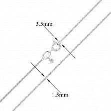 Цепочка из серебра Малазия в якорном плетении, 1,5 мм