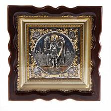 Икона Святой Архангел Михаил (дерево, серебро, позолота)