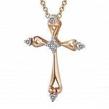 Крестик из золота с бриллиантами Вечность
