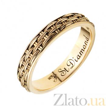 Золотое обручальное кольцо Сила и любовь 28960st