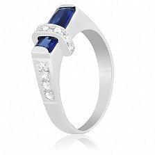 Серебряное кольцо с фианитами Калерия