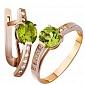 Золотое кольцо с хризолитом Колдунья AUR--31577 07
