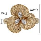 Кольцо Голди  из желтого золота с бриллиантами