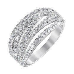 Серебряное кольцо с фианитами 000052252
