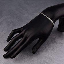 Серебряный браслет Тальми в ромбовом плетении